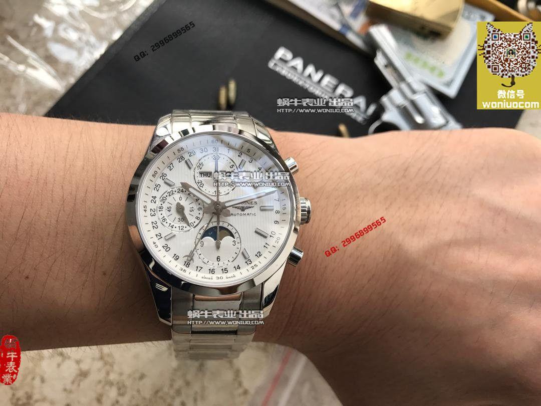 【实拍图鉴赏】YL厂1:1顶级复刻手表之浪琴康铂旗舰版L2.798.4.52.6男表《黑色表盘》 / L052A