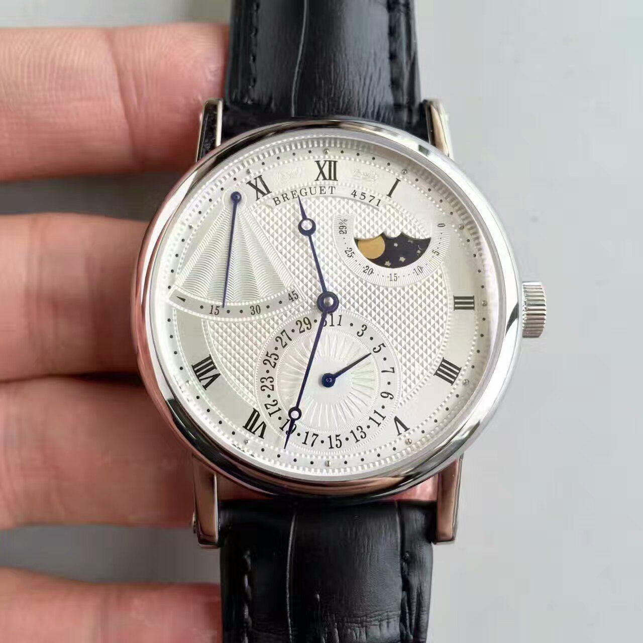 VF厂1:1高仿手表之宝玑经典系列月相男表