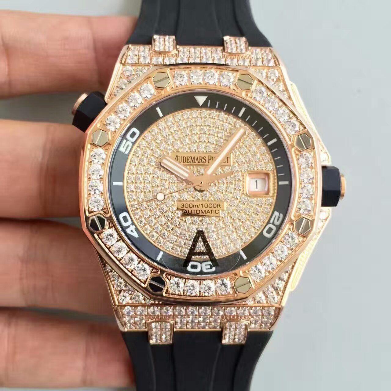 【JF厂1:1高仿手表】AP爱彼皇家橡树15703系列满天星极致奢华腕表价格报价