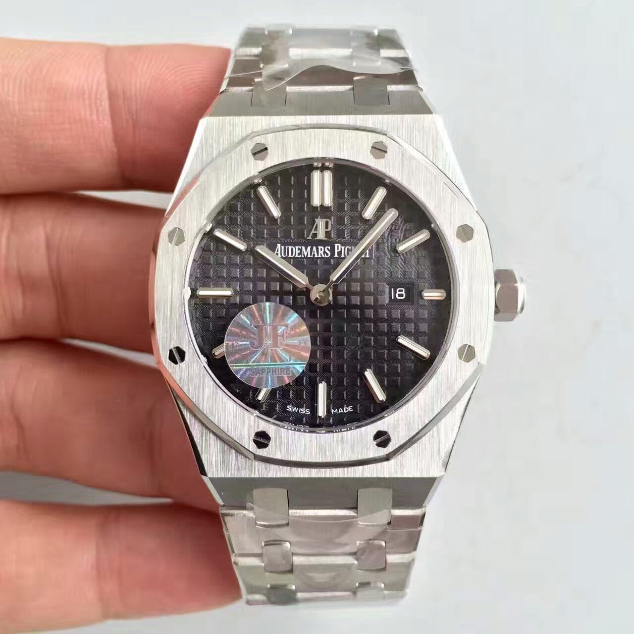 【JF厂一比一精仿手表】爱彼皇家橡树系列67650ST.OO.1261ST.01女士腕表价格报价