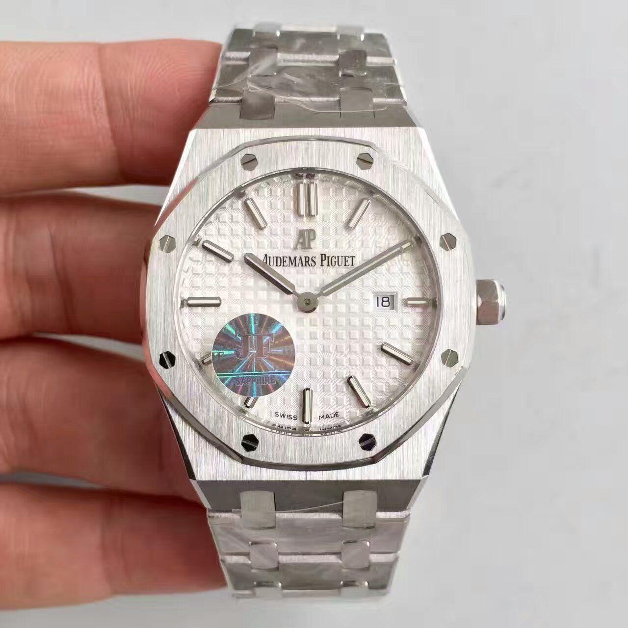 【JF厂一比一高仿手表】爱彼皇家橡树系列67653BC.GG.1263BC.01女士腕表价格报价