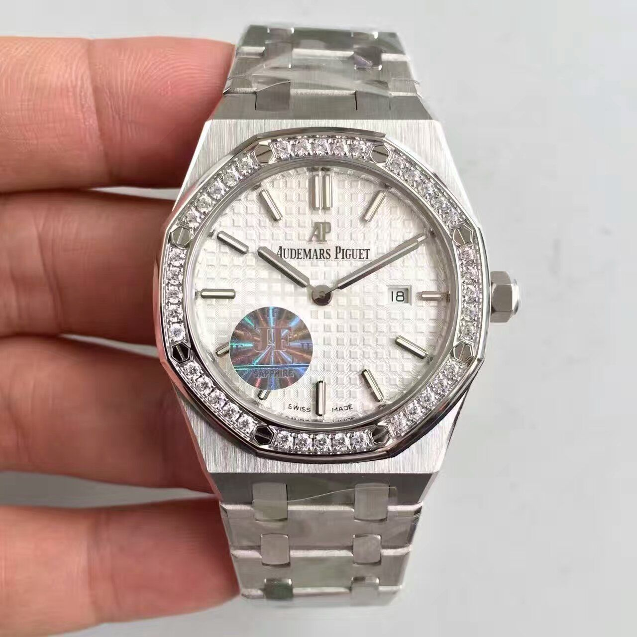 【JF一比一复刻手表】爱彼皇家橡树系列67651ST.ZZ.1261ST.01女士腕表价格报价