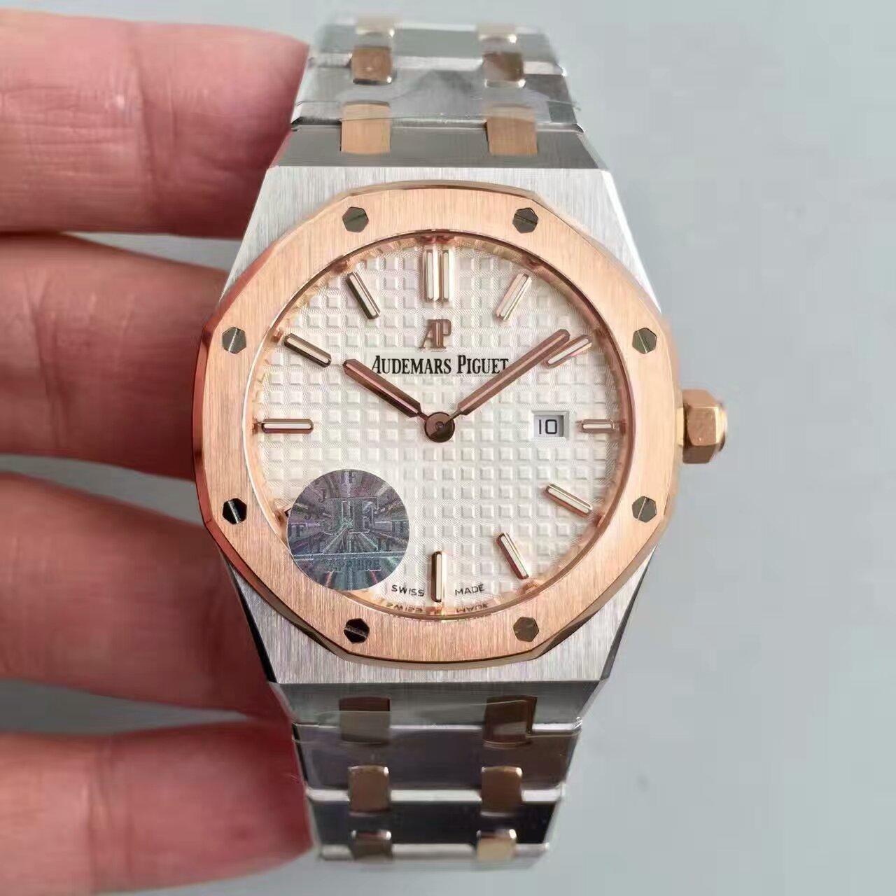 【JF厂一比一复刻手表】爱彼皇家橡树系列67650SR.OO.1261SR.01女士腕表价格报价