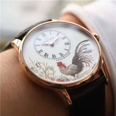 【顶级复刻手表】雅克德罗时分小针盘系列J005013216腕表