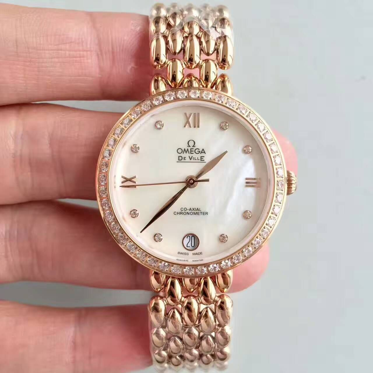 【一比一顶级复刻手表】欧米茄碟飞系列424.55.33.20.55.007女士石英腕表价格报价
