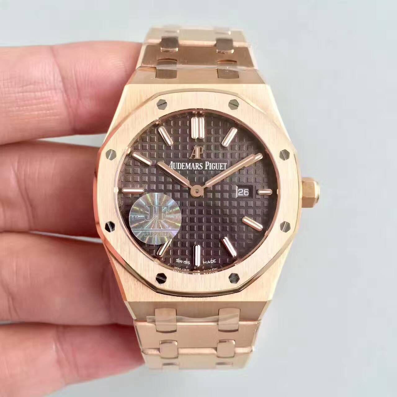 【JF一比一复刻手表】爱彼皇家橡树系列67650OR.OO.1261OR.01女士石英腕表