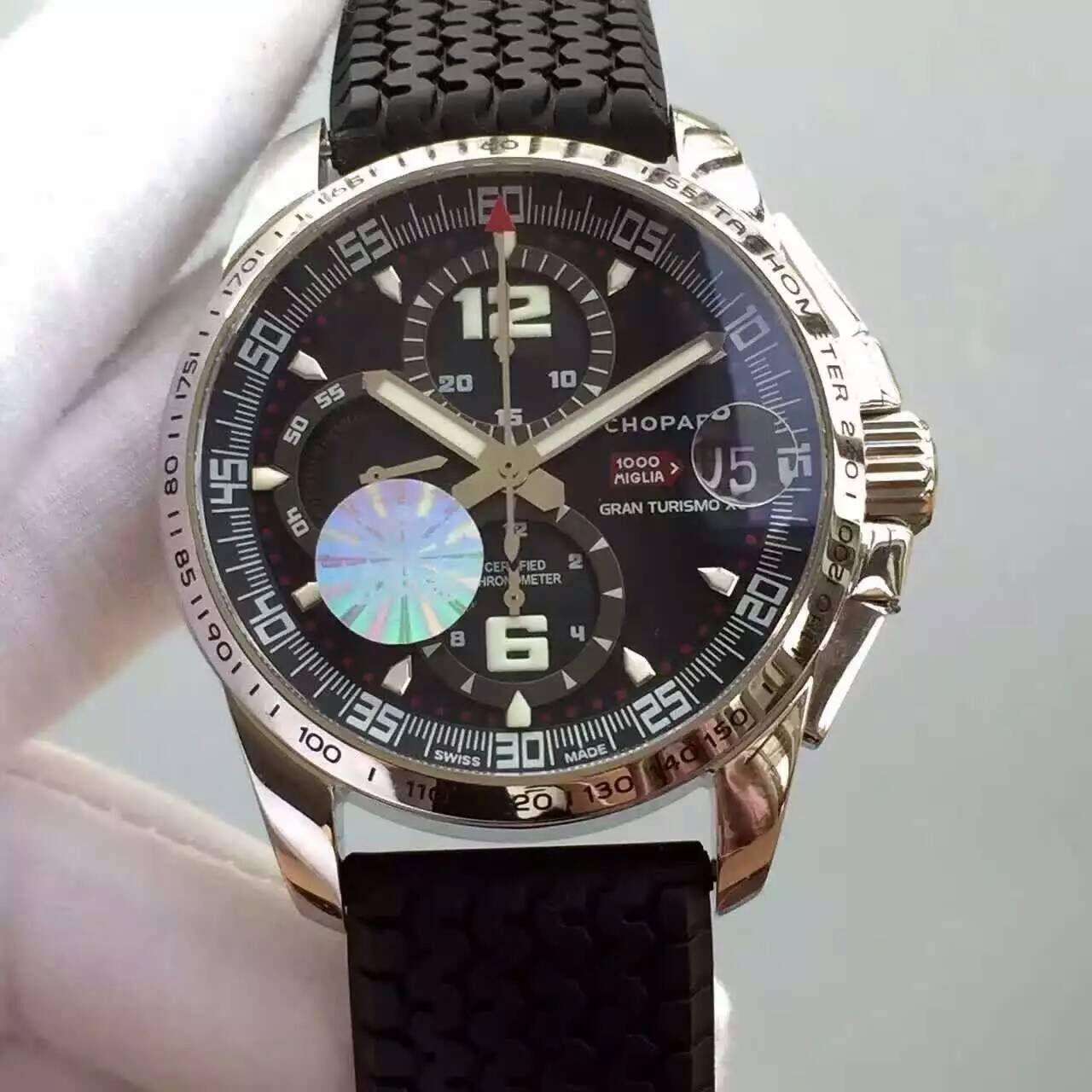 【HBBV6厂一比一超A高仿手表】萧邦经典赛车系列168459-3005腕表