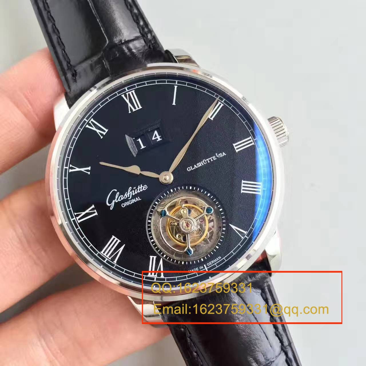 【TF厂一比一超A高仿手表】格拉苏蒂原创艺术与工艺系列1-94-03-04-04-04陀飞轮腕表 / GLACH040