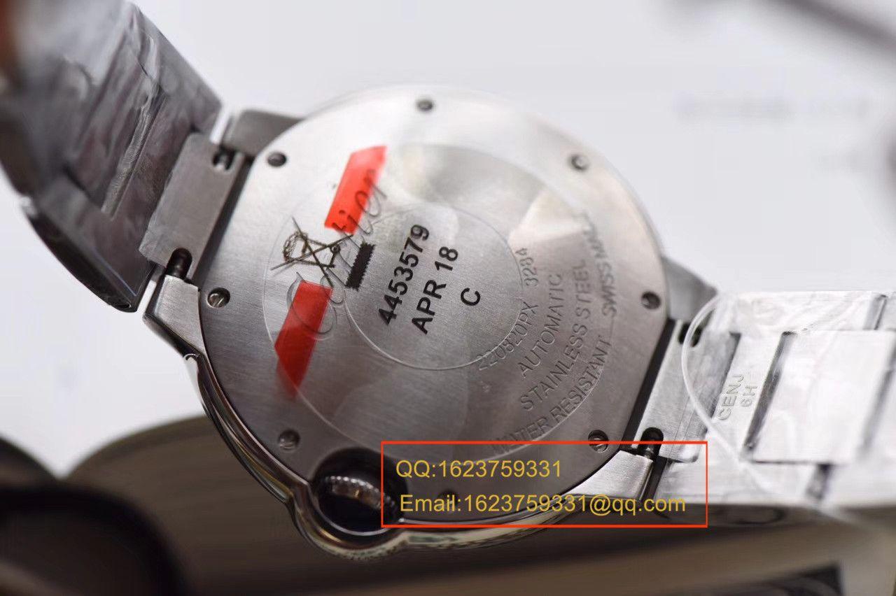 【独家视频测评V6厂一比一超A高仿手表】卡地亚蓝气球系列女装大号蓝气球36毫米W6920046 / KAF129