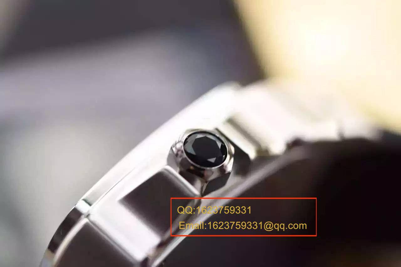 【视频解析V6厂1:1超A精仿手表】卡地亚山度士自动机械男表W20106X8机械腕表 / KBA032