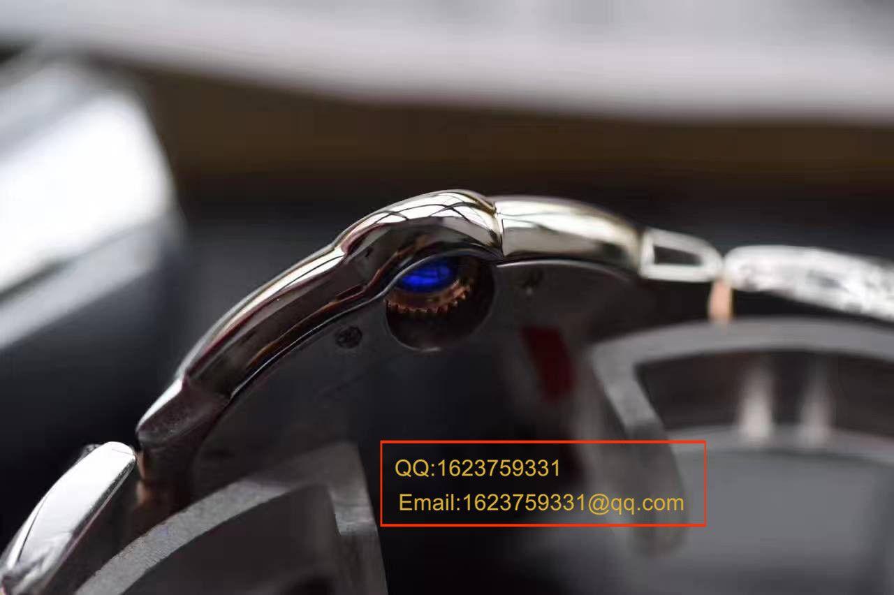 【独家视频评测HBBV6厂顶级复刻33毫米手表】卡地亚蓝气球系列玫瑰金小号蓝气球W6920099女士腕表 / KAG099