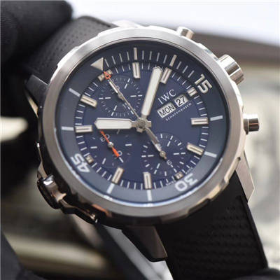 【独家视频测评V6厂一比一超A高仿手表】万国海洋时计系列IW376805蓝面腕表价格报价