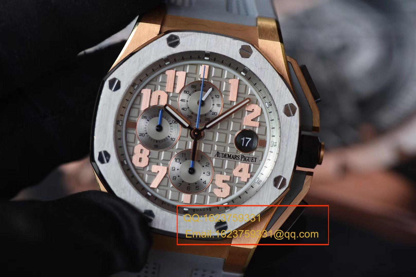 【视频评测JF厂一比一精仿手表】爱彼AP皇家橡树离岸型詹姆斯签名特别版26210OI.OO.A109CR.01腕表 / APDB043