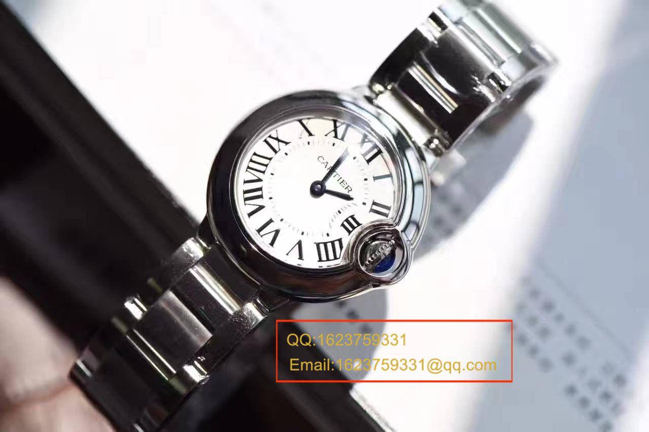 【HBBV6厂一比一复刻手表】卡地亚蓝气球系列小号28毫米石英蓝气球W69010Z4女表 / K111