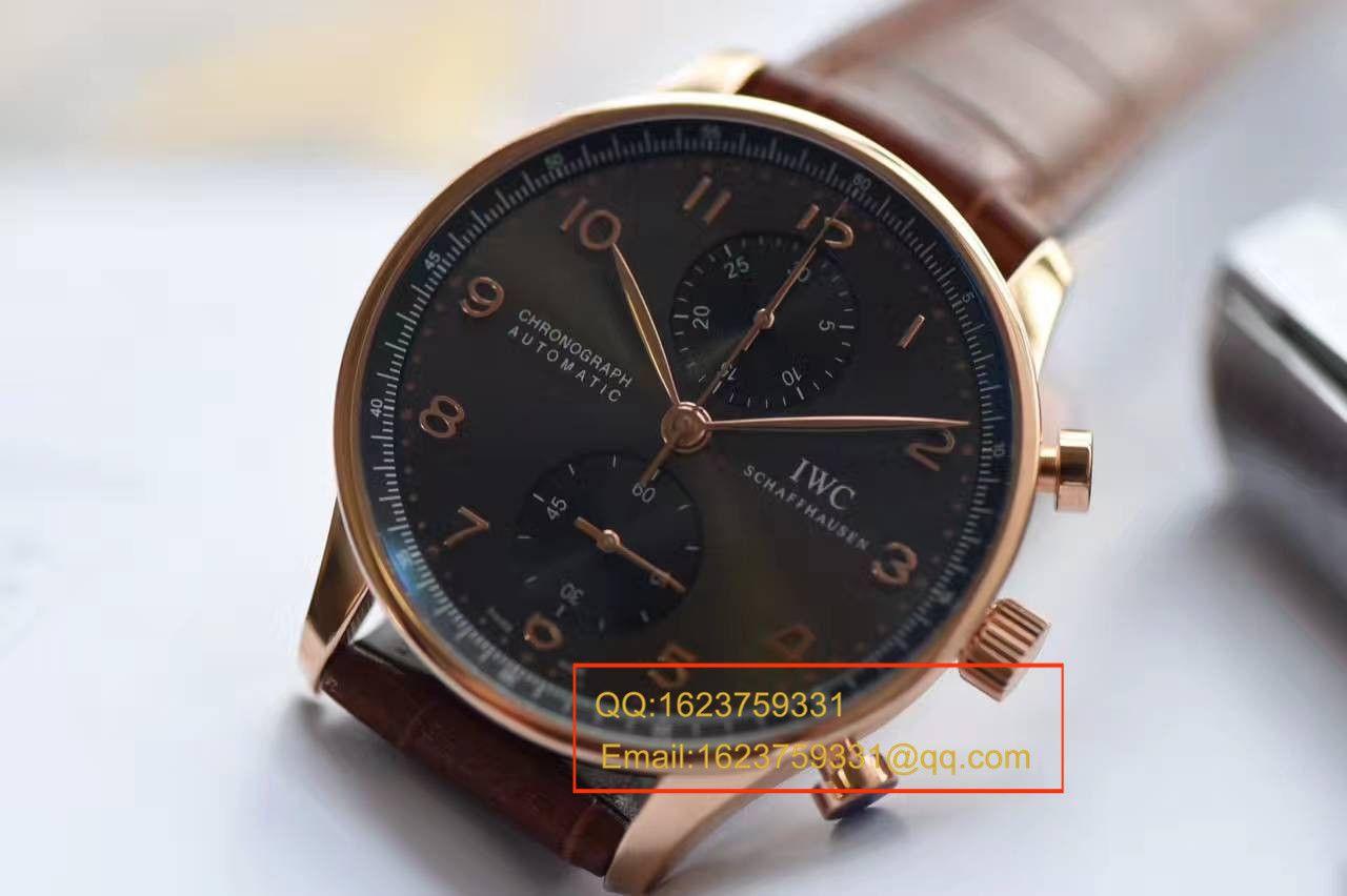 【独家视频测评YLV7版本葡计一比一超A高仿手表】万国葡萄牙系列IW371482腕表 / WG301