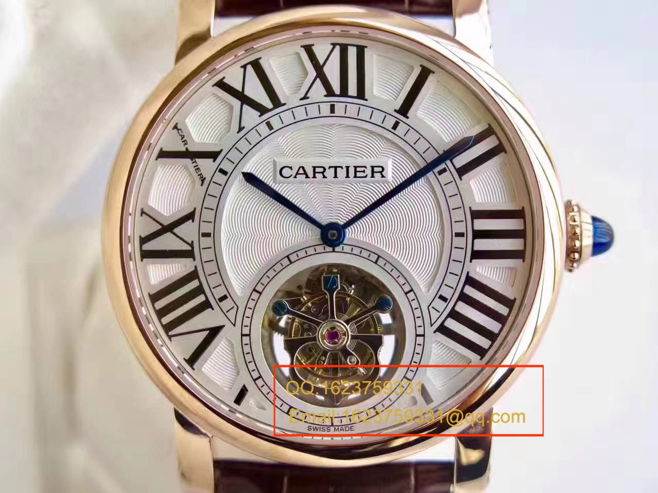 【BL厂一比一高仿手表】卡地亚ROTONDE DE CARTIER系列W1556215陀飞轮腕表 / KCI115