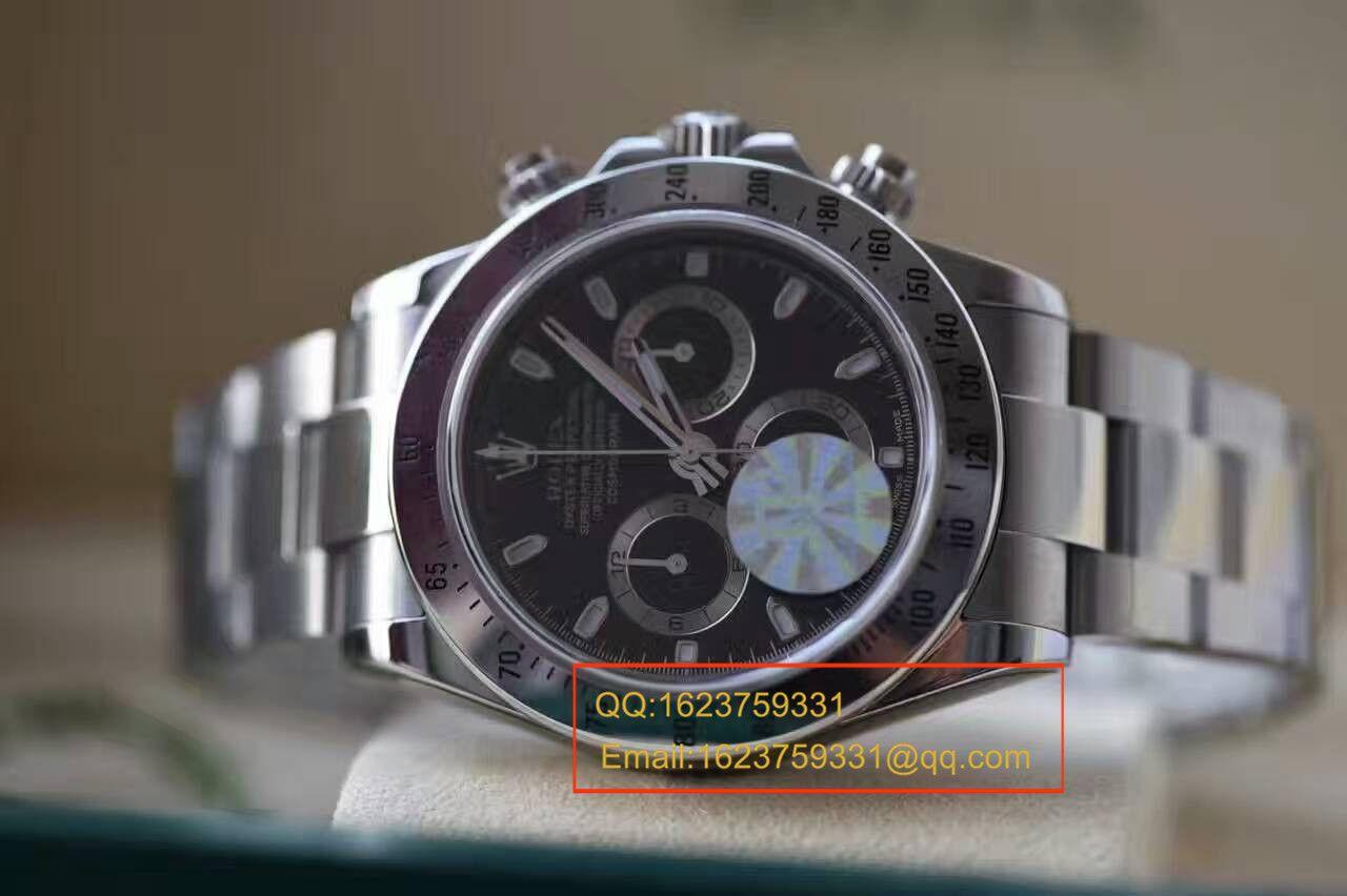 【实拍图鉴赏】JF厂一比一复刻手表之劳力士宇宙计型迪通拿系列116520-78590 男表 / RBB011A