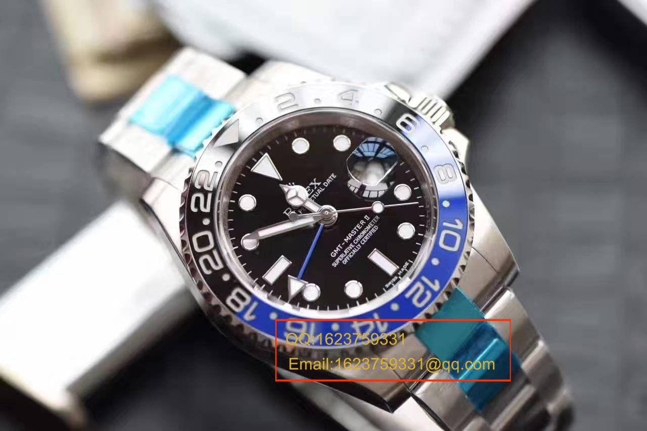 【N厂一比一复刻手表】V7版劳力士格林尼治型II系列116710BLNR-78200机械腕表 / RBF056