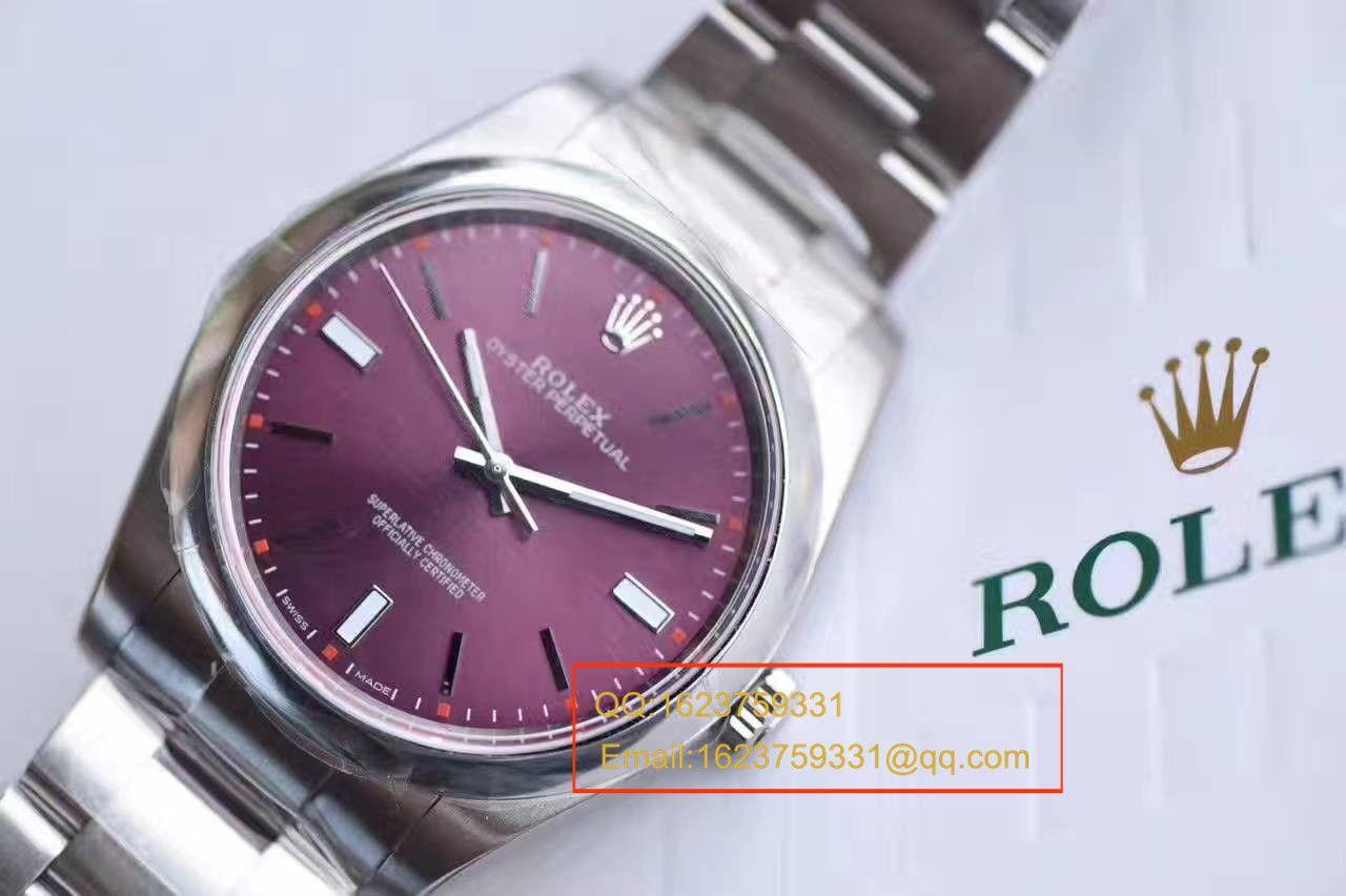 【JF厂顶级1:1复刻手表】劳力士蚝式恒动系列114300红葡萄色腕表 / R151