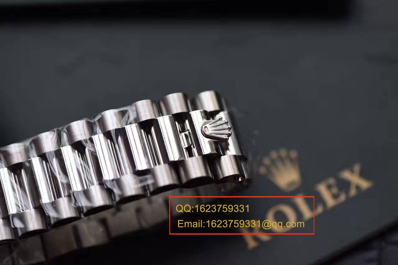 【独家视频测评EW厂1:1顶级高仿手表】劳力士星期日历型系列228239绿盘腕表 / R111