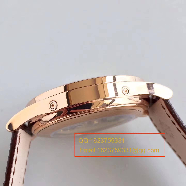 【台湾厂1:1超A高仿腕表】百达翡丽复杂功能计时系列5396/1R-001 月相皮带款玫瑰金腕表 / BD209