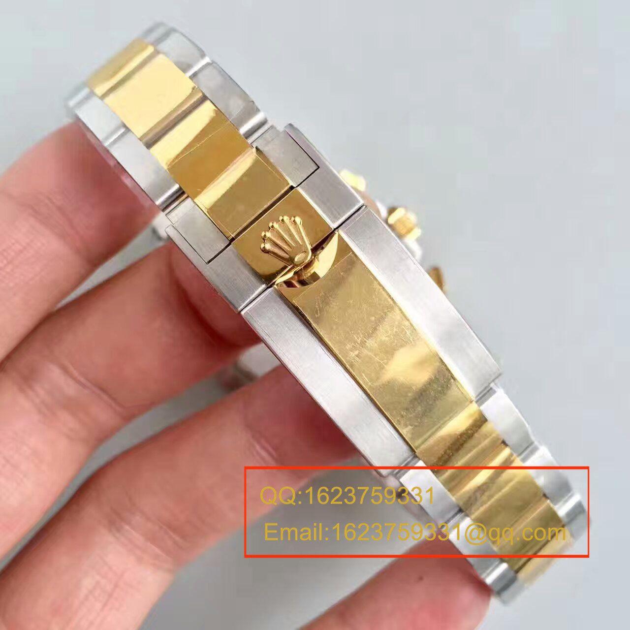 【JF厂1:1超A高仿手表】劳力士宇宙计型迪通拿系列116503金盘男士机械腕表 / R102
