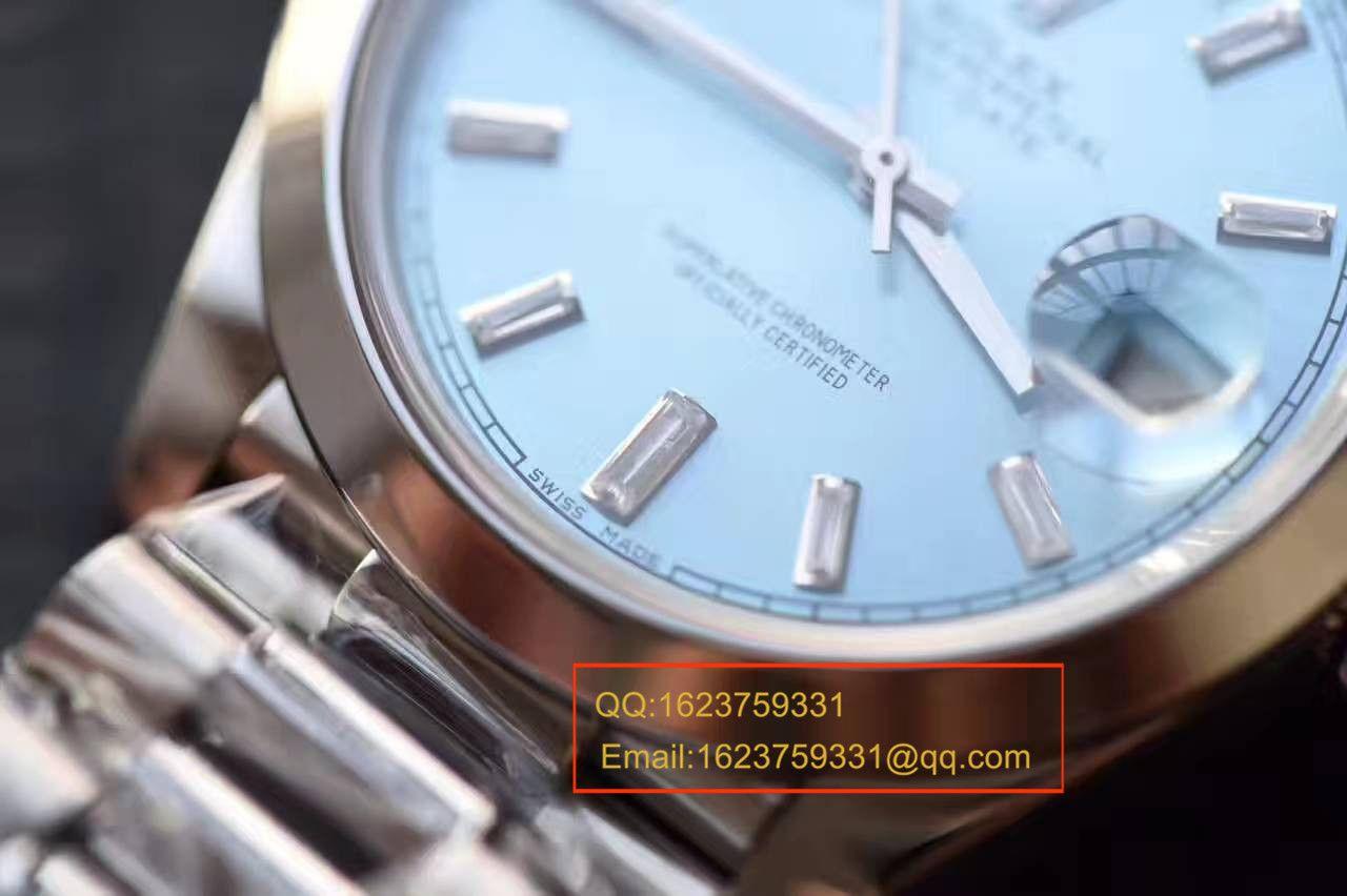 【台湾厂一比一超A高仿手表】劳力士星期日历型系列228239黑色表盘钻钉腕表 / RB0180