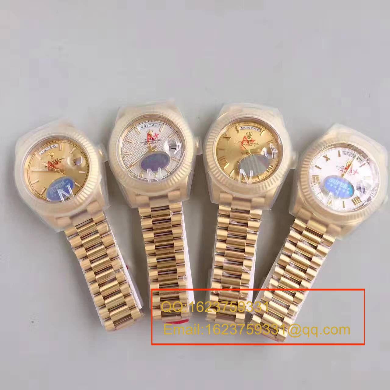 【N厂一比一超A高仿手表】劳力士星期日历型系列218238-83218 白盘腕表 / RBE166