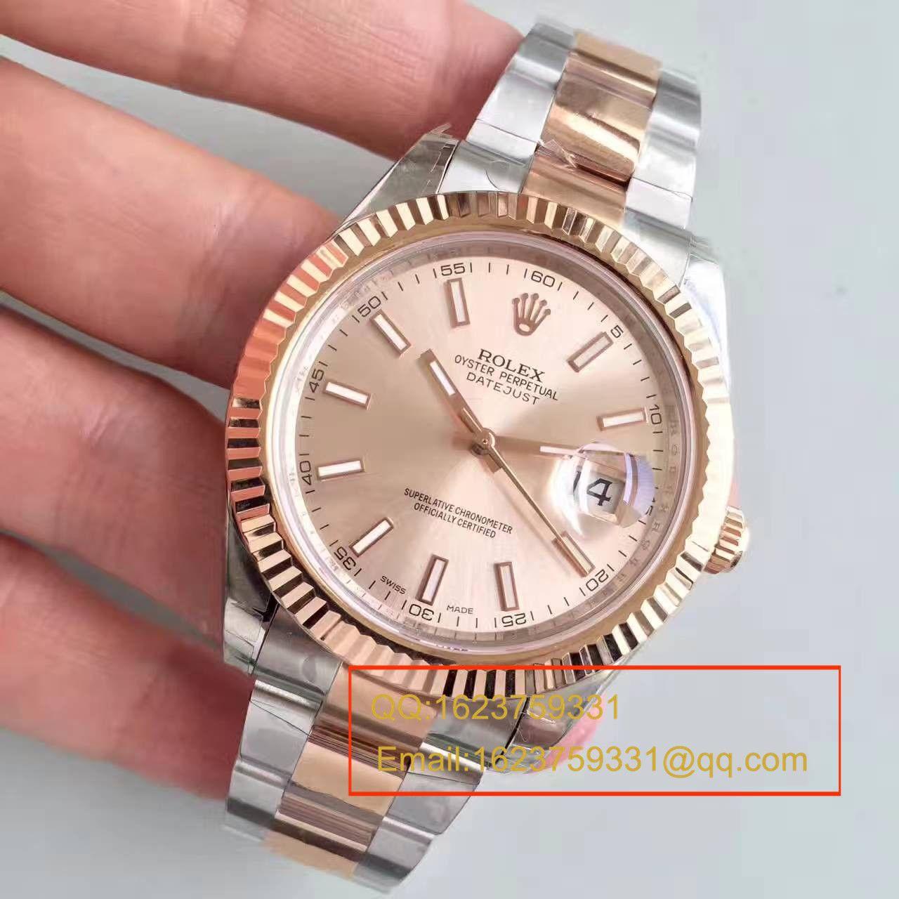 【NOOB厂一比一精仿手表】劳力士日志型系列126331粉盘纪念型表带腕表 / R163