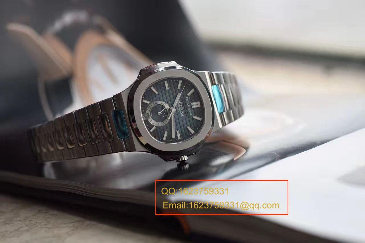 【KM一比一超A高精仿手表】百达翡丽运动系列鹦鹉螺月相5726/1A腕表 / BDBE199