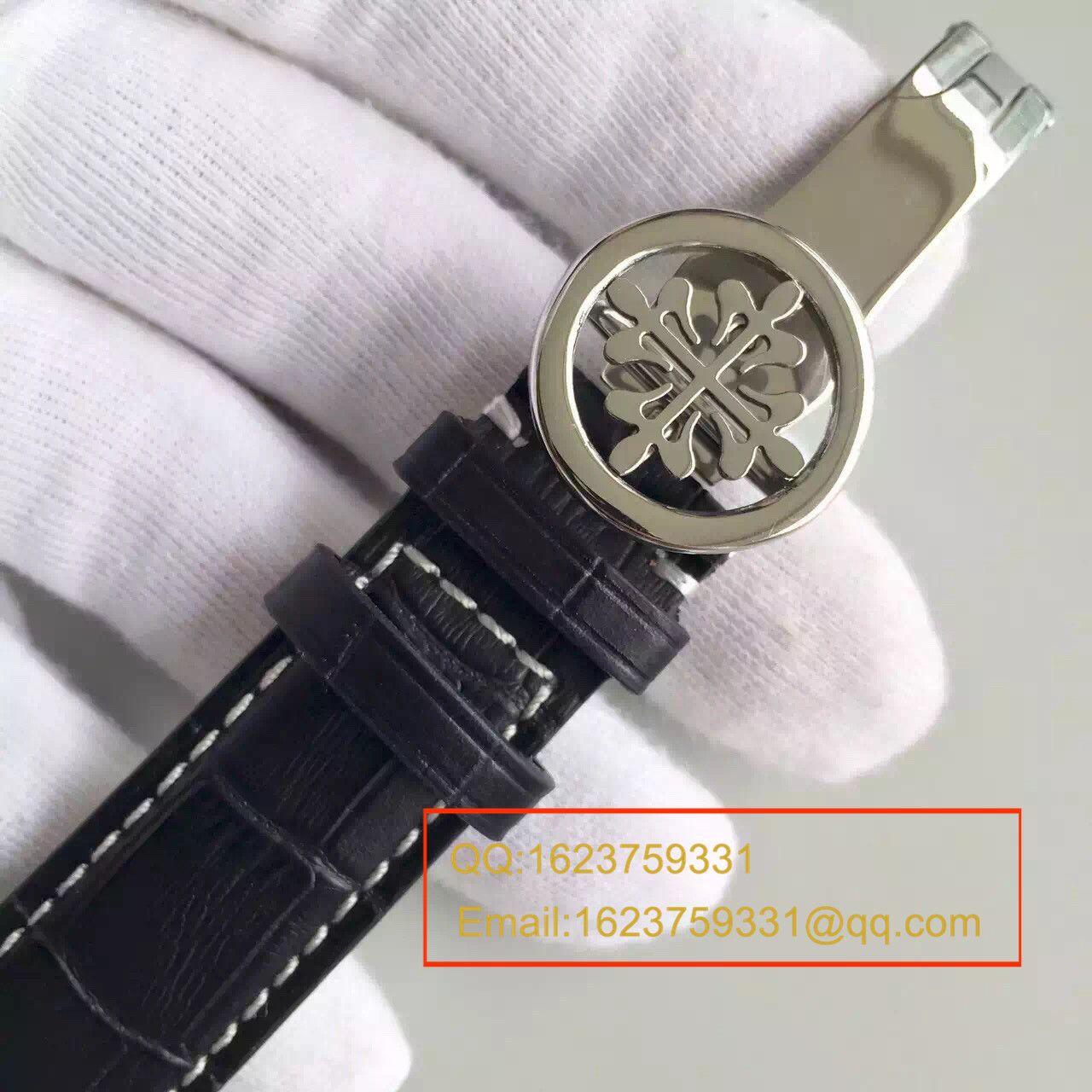 【HT一比一超A高仿手表】百达翡丽Calatrava 系列白金黑面男表5153G-001 / BD131