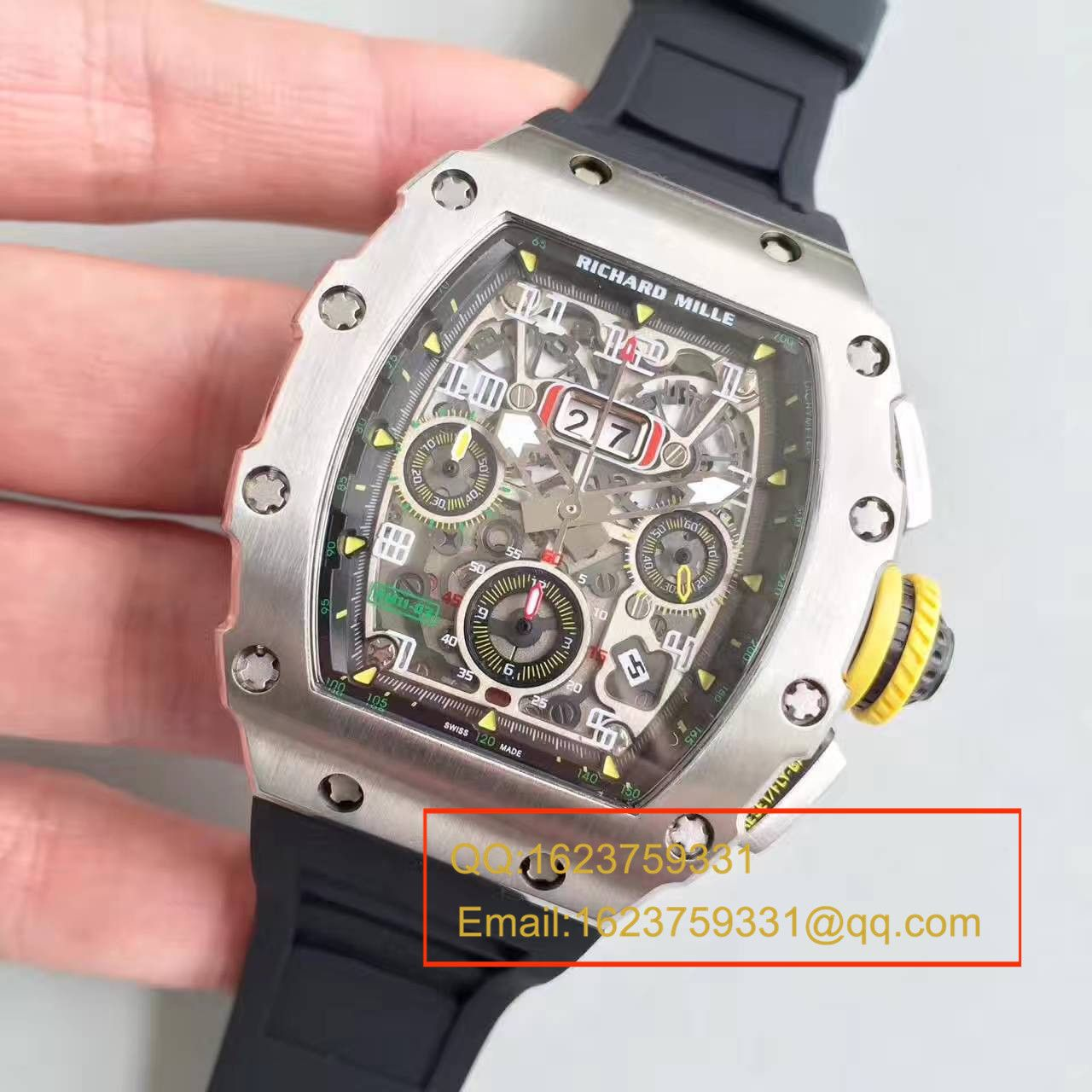 【RM厂一比一超A高仿手表】理查德.米勒男士系列 RM 11-03 V2升级版腕表 / RM011C