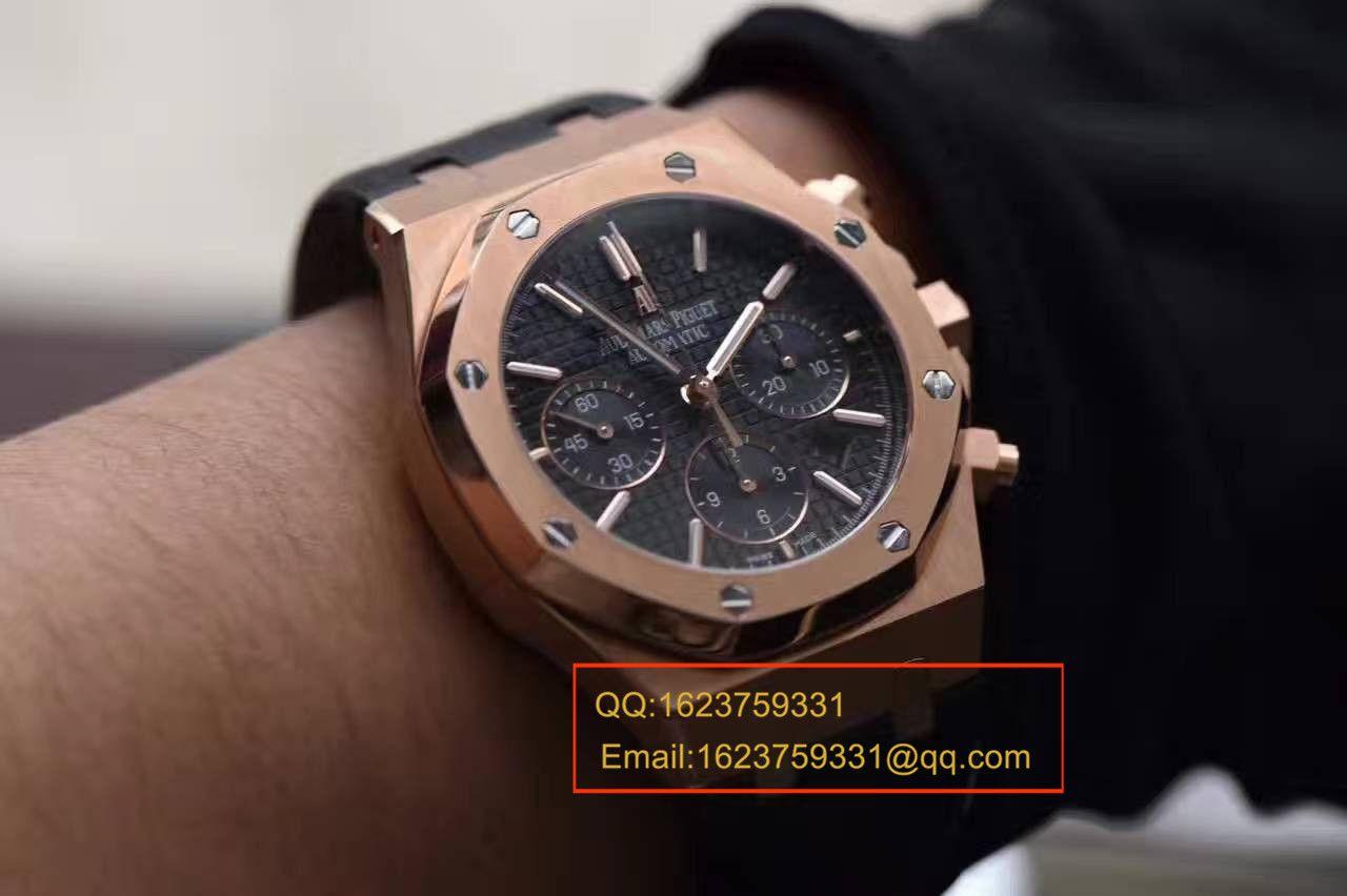 【独家视频测评JF1:1顶级复刻手表】爱彼皇家橡树系列26320OR.OO.D002CR.01腕表 / APBC107