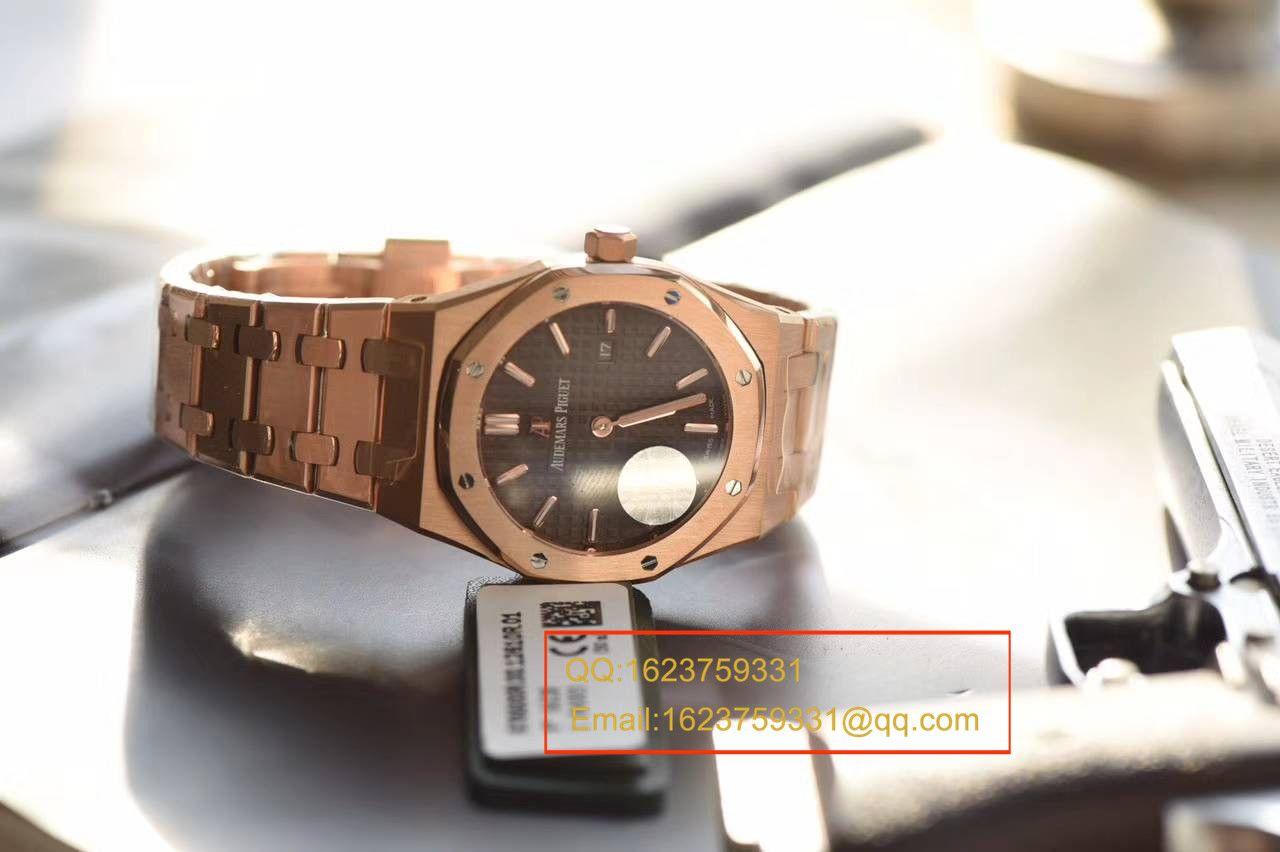 【JF厂1:1超A高仿手表】爱彼皇家橡树系列 67650OR.OO.1261OR.01石英女士腕表 / AP126