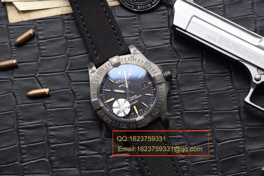【独家视频评测GF厂一比一超A高仿手表】百年灵复仇者黑鸟侦察机44毫米V1731110/BD74/109W/M20BASA.1百年灵黑鸟腕表 / BLBB066