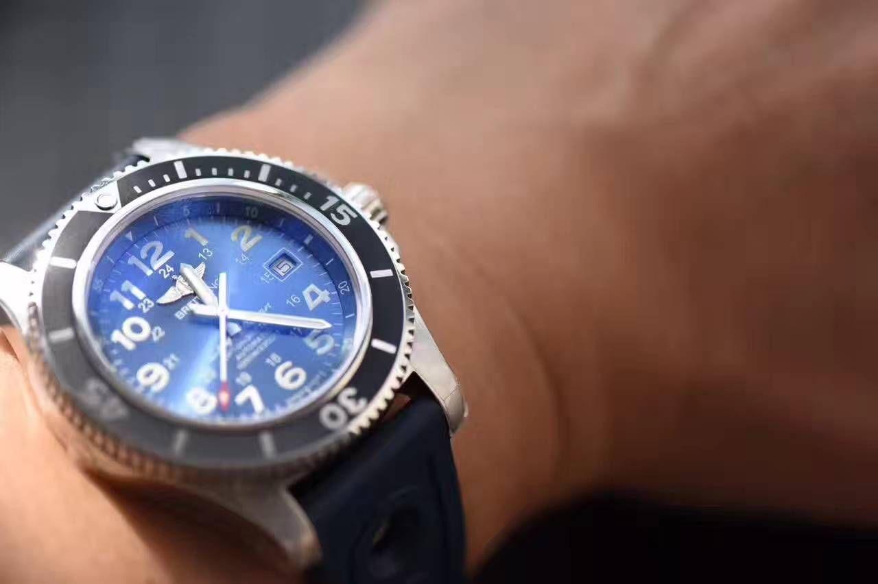 【视频解析N厂1:1超A高仿手表】百年灵超级海洋二代系列A17392D8/C910/228S/A20SS.1腕表 / BL055A