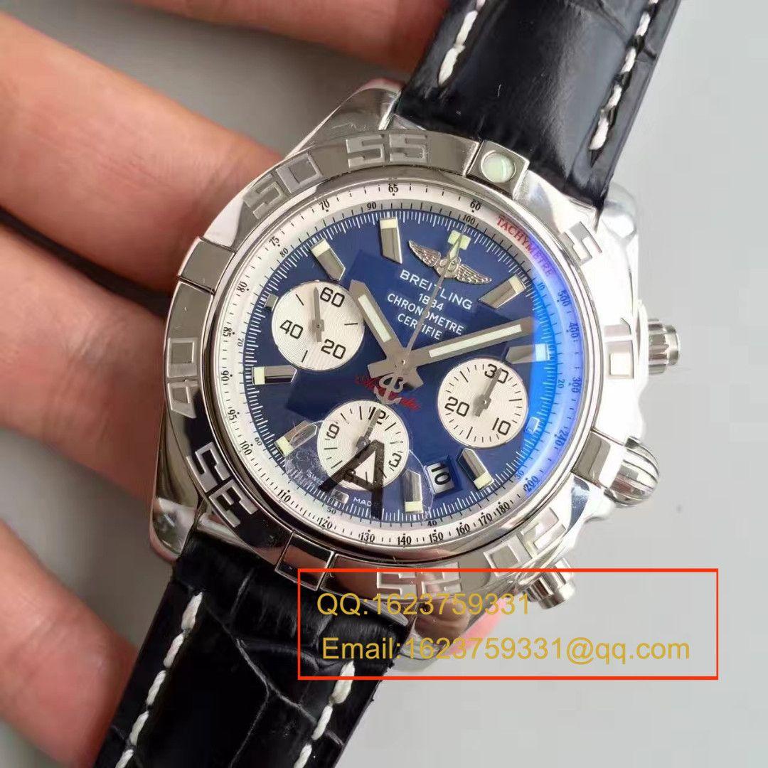 【JF厂超A高仿手表】百年灵机械计时系列AB011011/C788(Pilot飞行员牛皮表链)腕表 / BL002