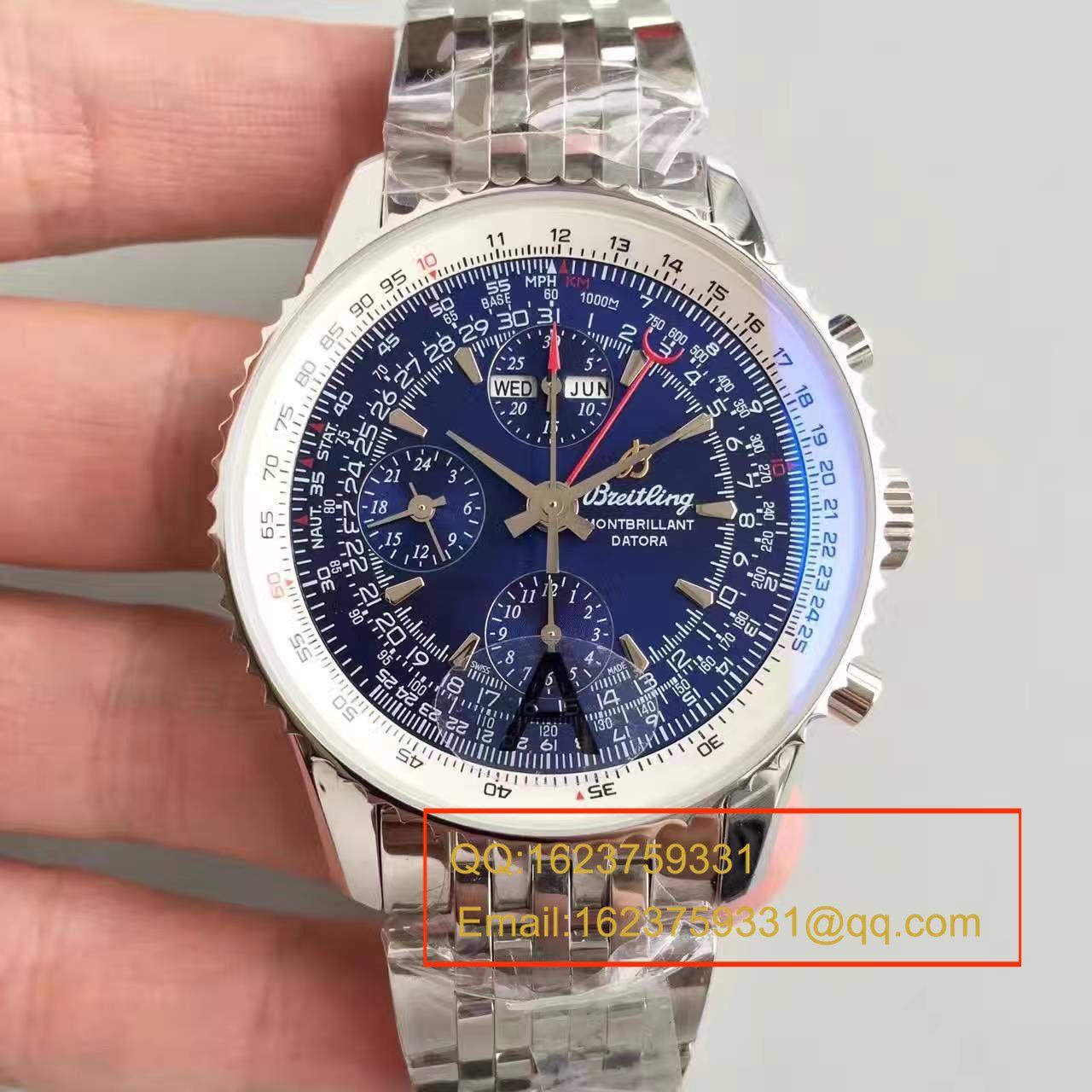 【JF1:1超A精仿手表】百年灵蒙柏朗计时系列A2133012-B571蓝盘腕表 / BL042