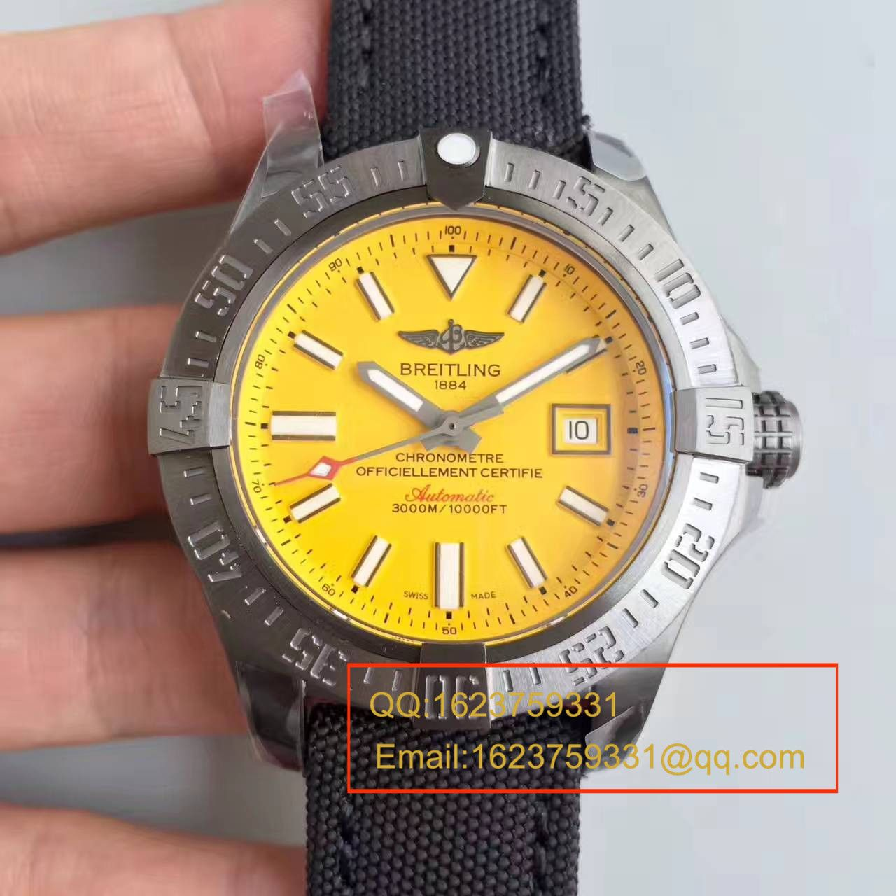 【GF厂一比一超A高仿手表】【游泳神器】百年灵复仇者二代深潜海狼系列黄鸟 M17331E2|I530|109W|M20BASA.1腕表 / BL074