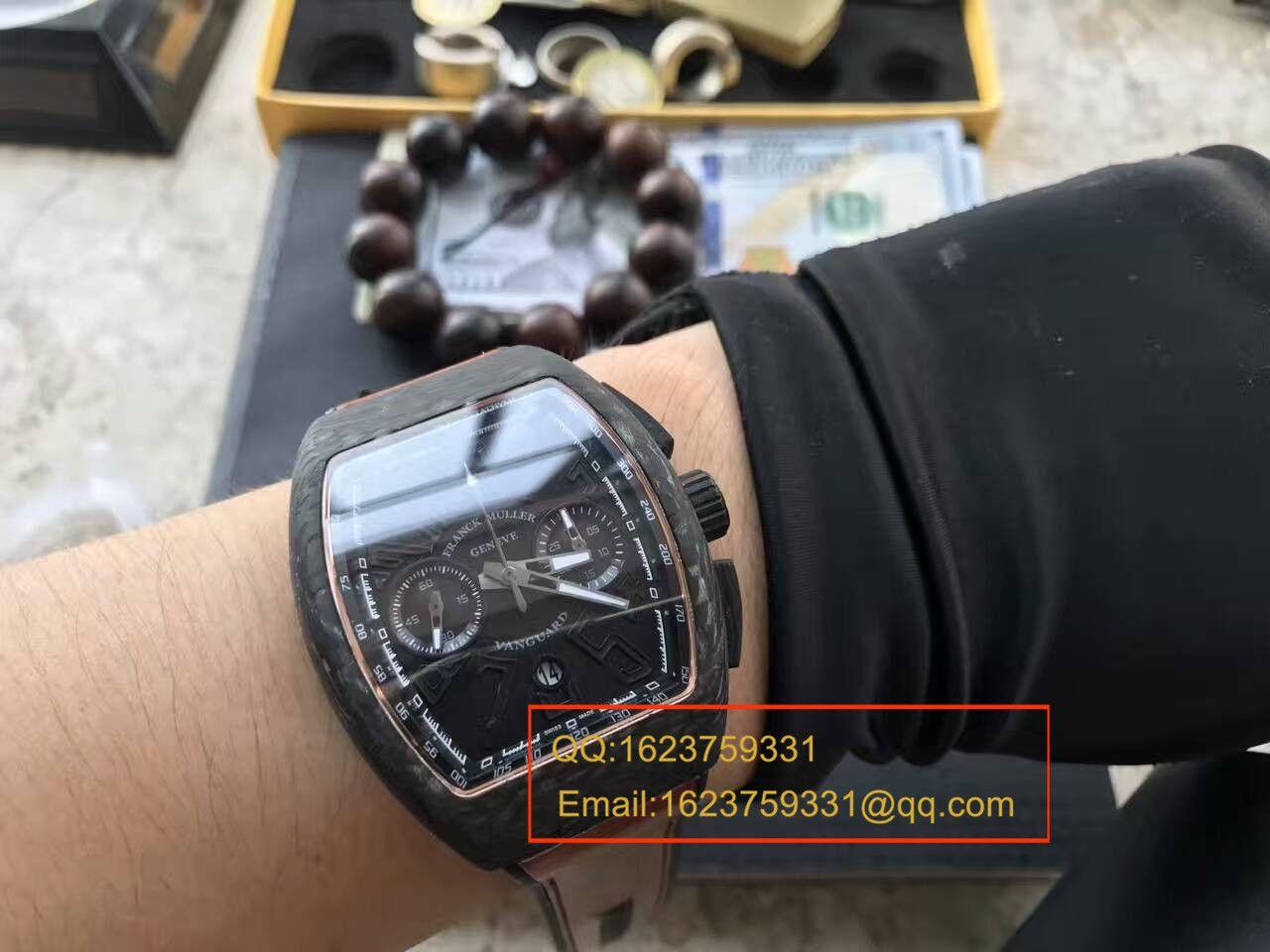 【LE1:1顶级复刻手表】法穆兰VANGUARD系列V45 SC DT BLACK PXL黑色腕表 / 法穆兰CAFL05