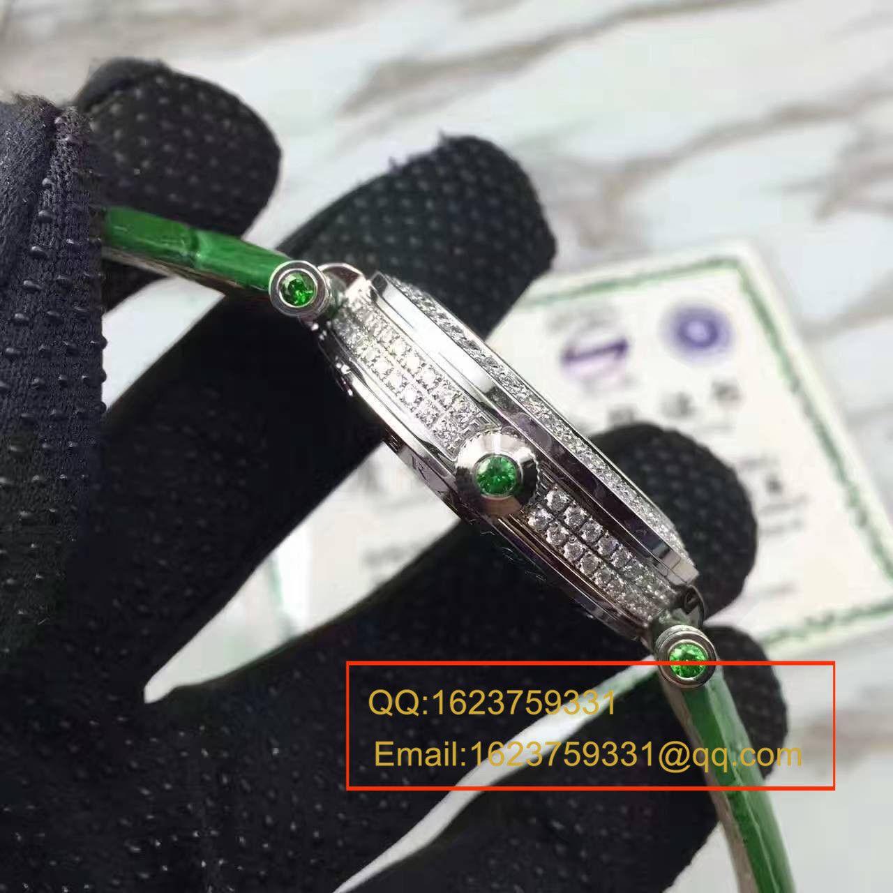 法兰克.穆勒DOUBLE MYSTERY系列42 DM D2R CD 白盘绿色表带女士腕表 / FLBF015