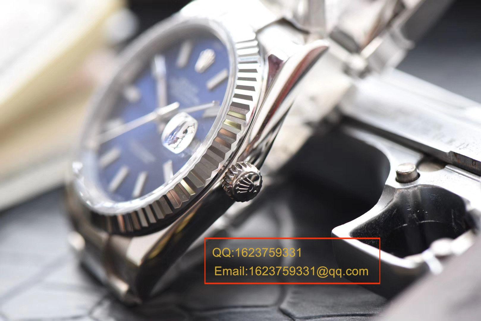 【视频评测N厂1:1顶级复刻高仿表】劳力士日志型系列116334-72210蓝盘机械腕表 / RBD095.1