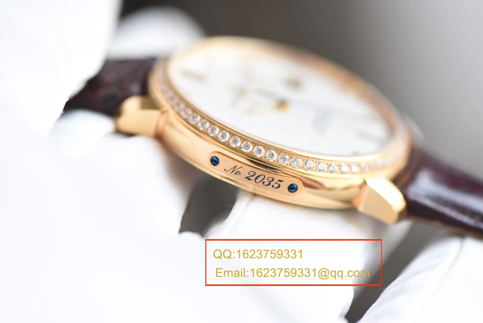 【FK一比一超A高仿手表】雅典鎏金系列8156-111-2/92 表圈镶钻腕表 / YD011