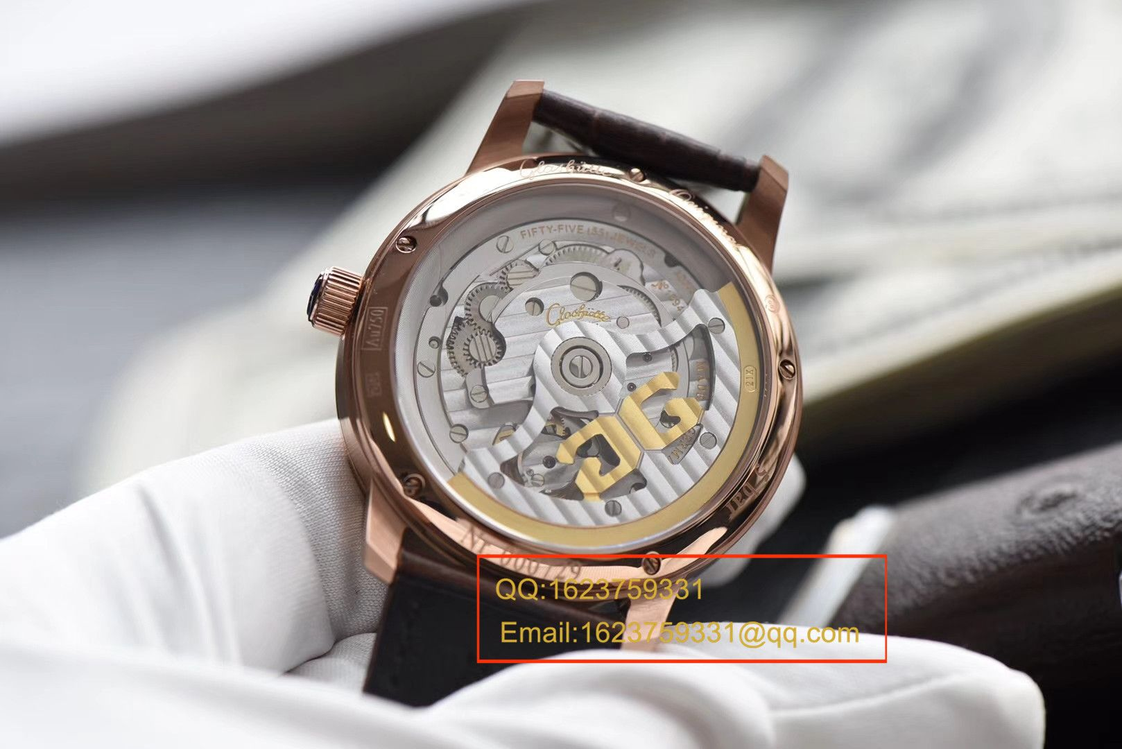 【视频评测TF厂一比一超A高仿手表】格拉苏蒂原创Gelasudi Original艺术与工艺 议员陀飞轮腕表系列金壳 / GLA051
