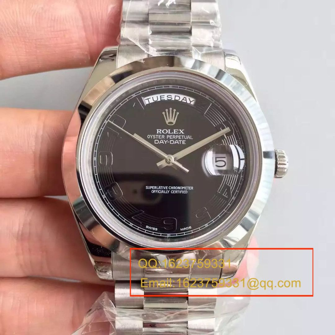 【N厂一比一顶级复刻手表】劳力士星期日历型系列228239-黑盘机械腕表 / RBE044