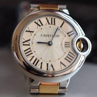 【HBBV6厂一比一超A高仿手表】卡地亚蓝气球系列W69008Z3女士33/36毫米间金石英腕表