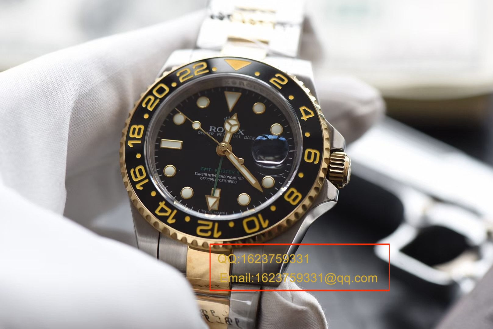 【N厂V7版本一比一精仿手表】劳力士格林尼治型II系列116713-LN-78203腕表【可选择包金款】 / RBF132