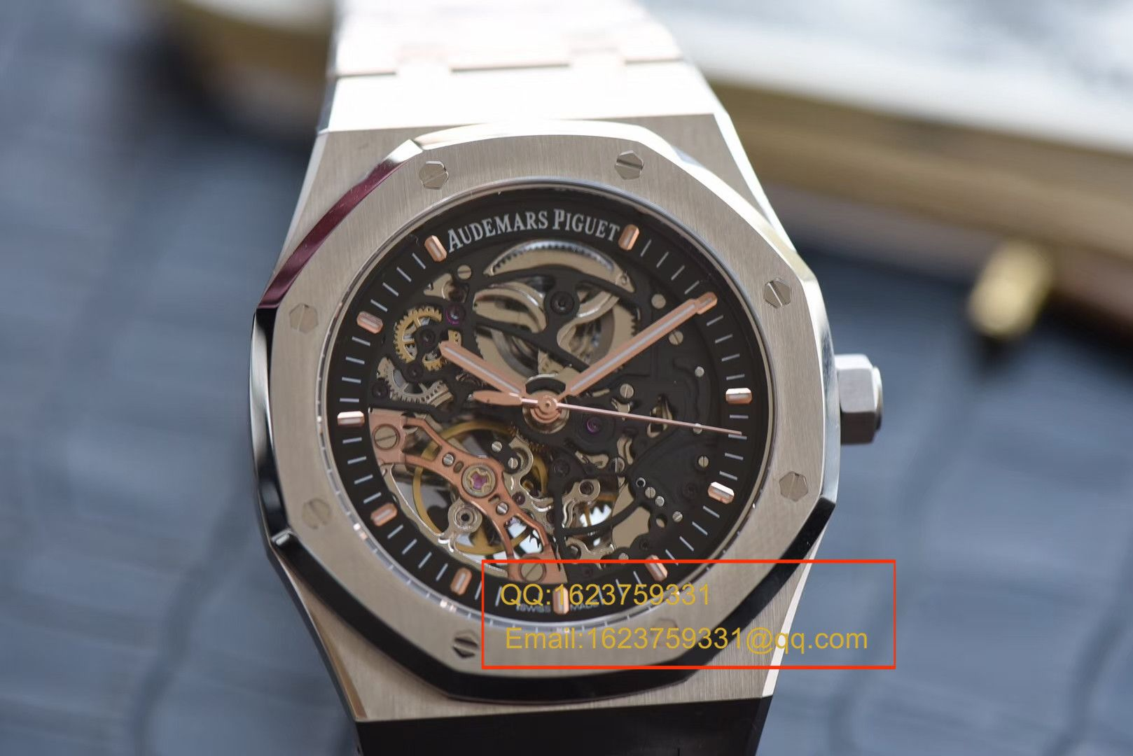 【视频评测JF一比一超A高仿手表】爱彼皇家橡树双摆轮镂空系列15407ST.OO.1220ST.01腕表 / APBD131