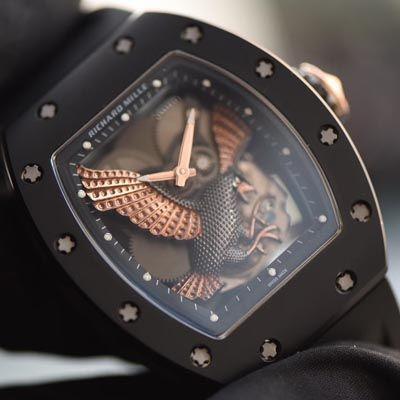 【独家视频评测KV一比一超A精仿手表】理查德.米勒RICHARD MILLE男士系列RM023-02立体鹰雕图案腕表价格报价
