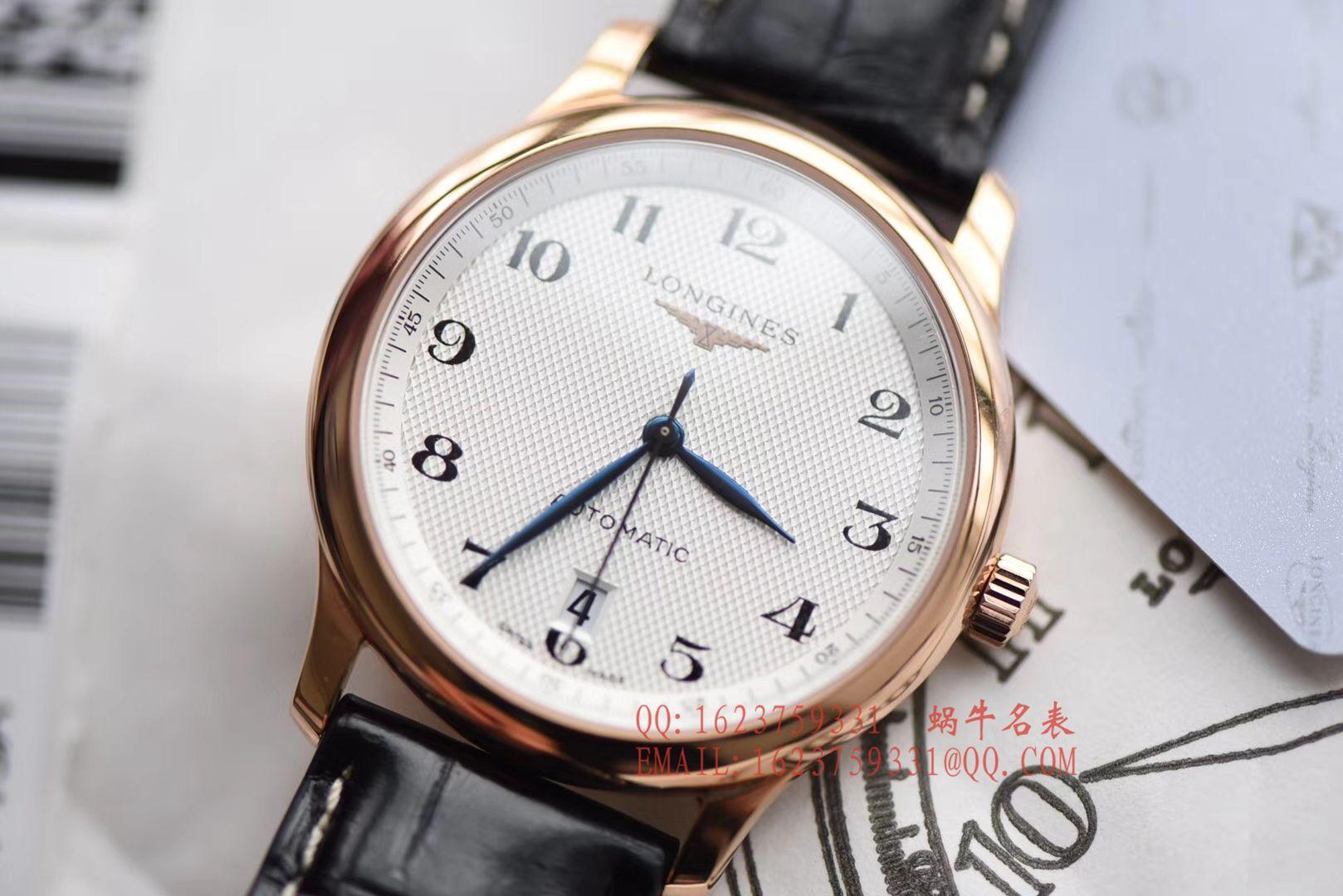 【独家视频评测KZ厂一比一超A高仿手表】浪琴名匠系列L2.628.6.78.3玫瑰金腕表 / L095